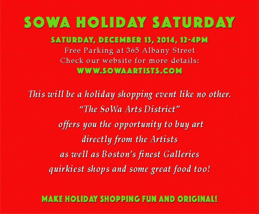 SoWa Holiday Saturday